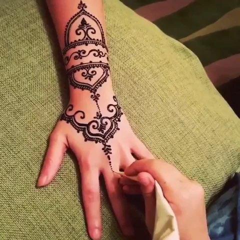 印度海娜手绘##曼海蒂##手绘