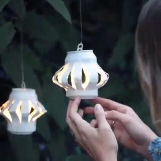 废易拉罐改成灯罩