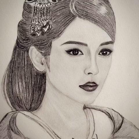 杨颖的手绘画图片