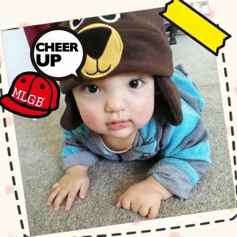 萌萌滴大眼睛宝贝#宝宝##可爱##萌##小熊