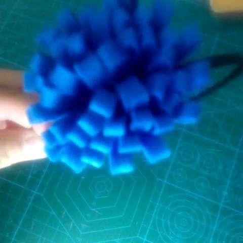 创意##手工制作#花朵发箍,儿童头饰